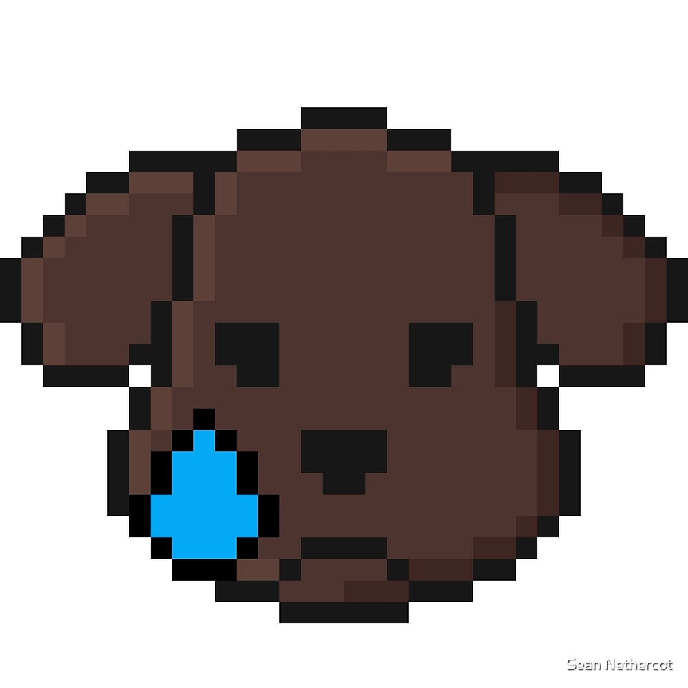 Sad Doggie Emoji Pixel Art By Sean Nethercot Redbubble