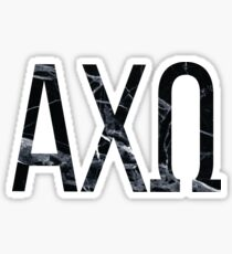 black marble greek letters axo sticker