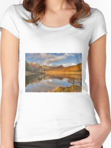 Blea Tarn Lake District Women's Fitted Scoop T-Shirt