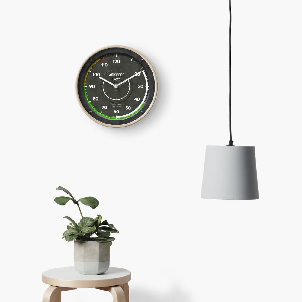 Airspeed Indicator Pilot Airplane Clock Clock