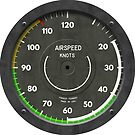 Airspeed Indicator Pilot Airplane Clock by forge22