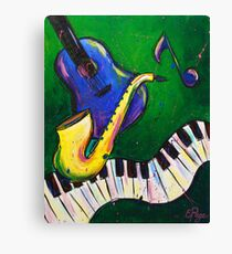 Jazz Time Canvas Print