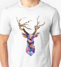 Floral Stag Unisex T-Shirt