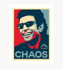 Lámina artística Camiseta de Ian Malcolm 'Chaos'