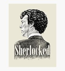 Sherlock Holmes - Sherlocked - Benedict Cumberbatch Crosshatch Portrait Photographic Print