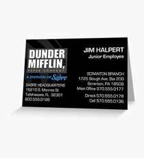 Business Card Junior Salesman Greeting Card