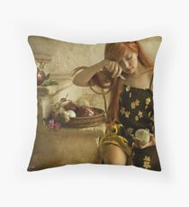 They're not tears, it's onion effect Throw Pillow