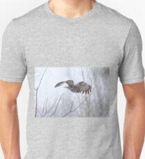 Great Gray Owl in Flight T-Shirt