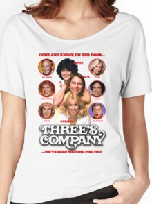 THREE'S COMPANY Come and knock on our door Women's Relaxed Fit T-Shirt