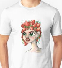 Cute Girl with Strawberry Hair Unisex T-Shirt