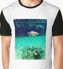 Sea Turtle Swimming Through Ocean Graphic T-Shirt