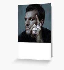 Tom Brady Five Rings Michael Jordan Pose Painting Greeting Card