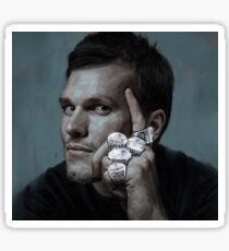 Tom Brady Five Rings Michael Jordan Pose Painting Sticker