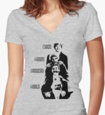 Communist Marx Brothers - Light background Women's Fitted V-Neck T-Shirt