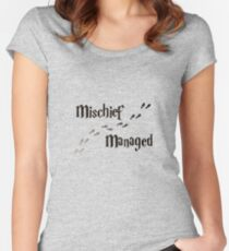 Mischief Managed Women's Fitted Scoop T-Shirt