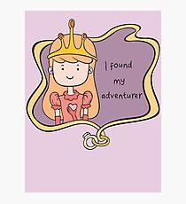 I Found My Adventurer - Princess Adventure Time - Engagement / Marriage Photographic Print