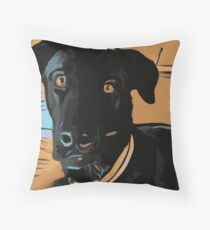 Max the dog Throw Pillow