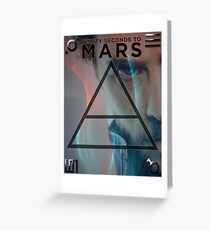 30 Seconds To Mars Poster Greeting Card