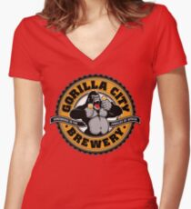 Gorilla City Brewery Women's Fitted V-Neck T-Shirt