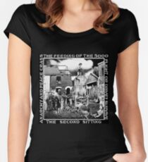 Crass - the Feeding of the 5000, Flight or Drive? Survive, the Second Sitting, Anarchy and Peace Women's Fitted Scoop T-Shirt