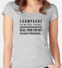 champagne Women's Fitted Scoop T-Shirt