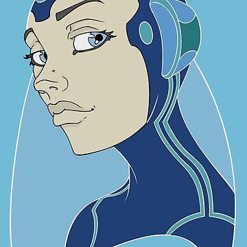 Space Girl Astronaut Warrior by Rvaya