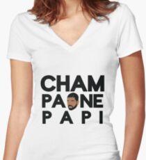 Champagne Papi - Drake Women's Fitted V-Neck T-Shirt