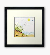 SOME BEACH Framed Print