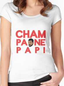 Champagne Papi - Drake Women's Fitted Scoop T-Shirt