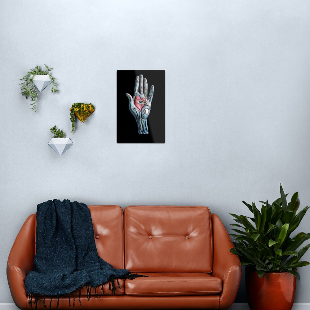 heart rests in the mind  Metal Print