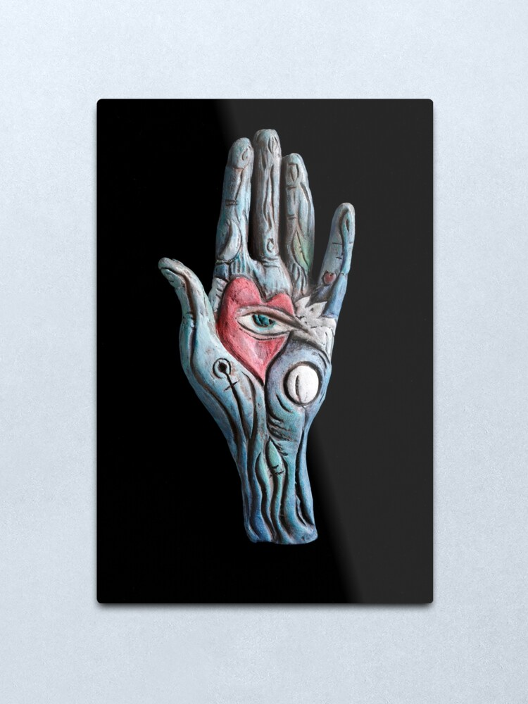 Alternate view of heart rests in the mind  Metal Print