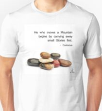 He who moves a Mountain... Unisex T-Shirt