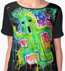 Cute Cactuar - Running Watercolor - Final fantasy - Jonny2may - Awesome!  Women's Chiffon Top