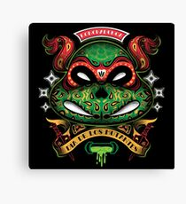 Dia De Los Mutantes Raph Canvas Print