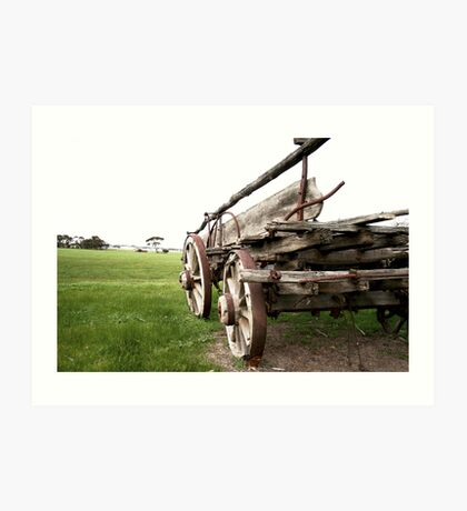 Cart Behind the Horse Art Print
