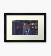 Mulder wearing glasses Framed Print