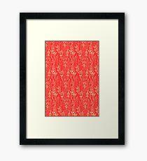 Red Scissors Framed Print