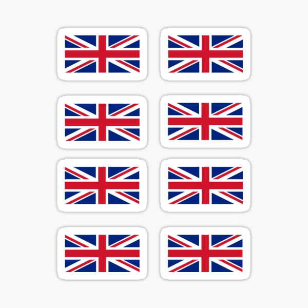 United Kingdom ROYAL STANDARD Flag UK Mobile Cell Phone Mini Stickers Decals x6