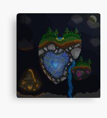 Heart Island (Pixel art) Canvas Print