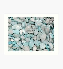 Pebbles by the Creek Art Print