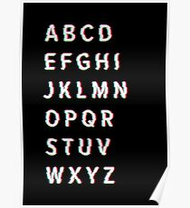 Glitch Alphabet Poster