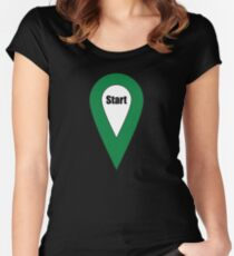 Start Here Couple or Kids Exploring Women's Fitted Scoop T-Shirt