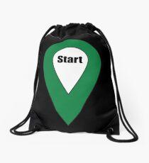 Start Here Couple or Kids Exploring Drawstring Bag
