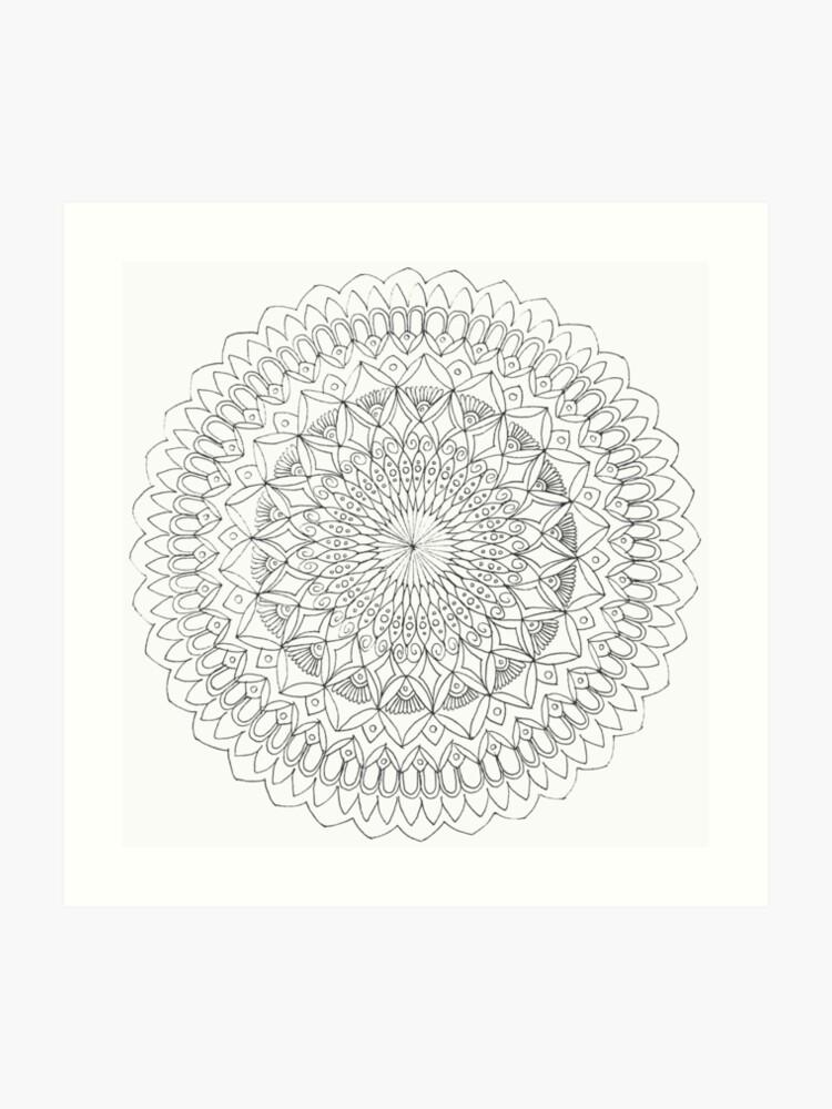 Simple Mandala | Art Print