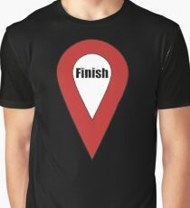 Finish Here Couple or Kids Exploring Graphic T-Shirt