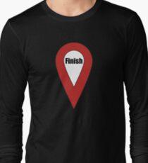 Finish Here Couple or Kids Exploring Long Sleeve T-Shirt
