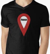 Finish Here Couple or Kids Exploring Mens V-Neck T-Shirt