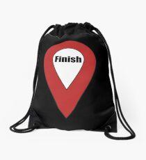 Finish Here Couple or Kids Exploring Drawstring Bag