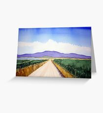 A dirt road in Prom Country Greeting Card