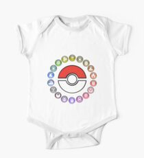 Pokemon Type Wheel v2 One Piece - Short Sleeve